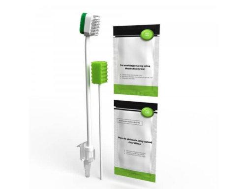 Szczoteczki i zestawy do mycia zębów dla chorego pacjenta.